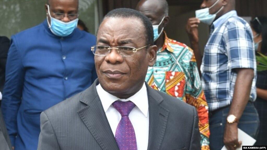 L'ancien Premier ministre ivoirien Pascal Affi N'Guessan, candidat à la présidentielle du 31 octobre 2020 à Abidjan, le 15 octobre 2020.
