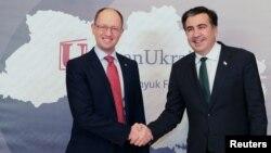 Аресений Яценюк и Михаил Саакашвили