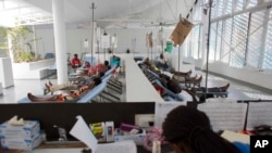 Pusat perawatan permanen kolera pertama di Haiti, di pusat kota Port-au-Prince, Februari 2016. (AP/Dieu Nalio Chery)