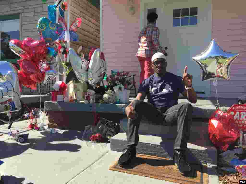 Muslim-American Abdul Ali, from Norfolk, VA. (R. Taylor/VOA)