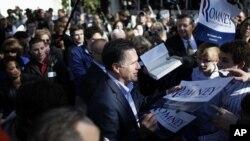 前麻萨诸塞州州长罗姆尼1月18日在南卡罗莱纳州竞选
