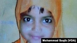 جنسی زیادتی کا نشانہ بنا کر قتل کی جائے والی منگھو پیر کراچی کی بچی رابعہ۔