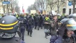 Haftasonu Fransa'da Sarı Yelekliler eylemlerinde yine şiddet vardı