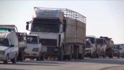 Suriyeli Siviller Rakka'dan Kaçıyor