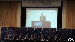 """2017年在东京联合国大学内举行的""""东京会议"""",约有200名日本内外的研究人员到场旁听(歌篮拍摄)"""
