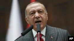 Presiden Turki Recep Tayyip Erdogan berbicara di Ankara (foto: dok).