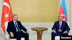 Erdogan û serokê Azerbaycanê Îlham Alîyev (Gulan 2020)