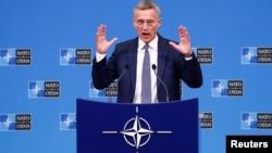 Tổng Thư ký NATO Jens Stoltenberg (ảnh tư liệu, 4/10/2018)