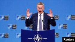 Генеральный секретарь НАТО Йенс Столтенберг, Брюссель, 4 октября 2018 г.