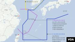 中日韩东中国海防空识别示意图