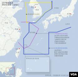 中日韩东中国海防空识别