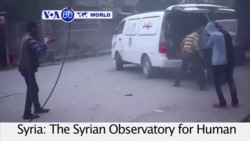 VOA60 World - At least eight killed in government air strikes outside Damascus