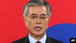 Opposition Democratic United Party's presidential candidate Moon Jae-in.
