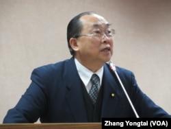 台湾执政党国民党立委詹凯臣 (美国之音张永泰拍摄)