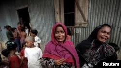 Wasu 'yan kabilar Rohingya da suka tserewa rikicin jihar Rakhine