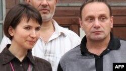 Юлия Приведенная и ее адвокат Михаил Трепашкин