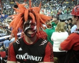 Nathan Brock, a University of Cincinnati fan at March Madness game in Washington, D.C.