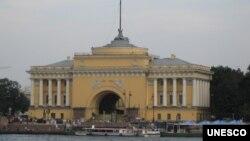 位于圣彼得堡的俄罗斯海军司令部(美国之音白桦拍摄)