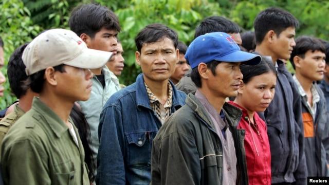 Một nhóm người Thượng tại Ban Lung ở phía đông Bắc Ratanakiri, Campuchia.