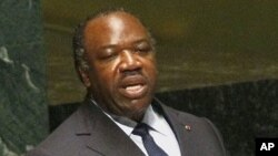 加蓬总统阿里·本·邦戈6月8日在联合国大会抗击艾滋病峰会上发表讲话