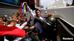 Leopoldo López se entregó a las autoridades venezolanas el pasado 18 de febrero y se encuentra preso en la cárcel militar de Ramo Verde.