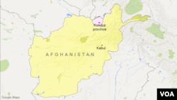 Peta wilayah Afghanistan dan provinsi Kunduz.