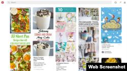 图片社交网站Pinterest拼趣(网页截图)