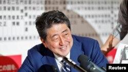 លោក Shinzo Abe នាយករដ្ឋមន្ត្រីប្រទេសជប៉ុន។