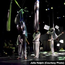 A scene from Only Child Aerial Theatre's ASYLUM.