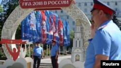 Lực lượng bảo vệ cho World Cup 2018 ở thành phố Rostov-on-Don.