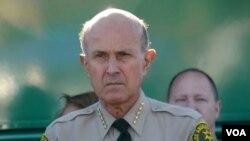 前洛杉矶县警长李贝卡。(美国之音国符拍摄)