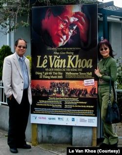 Nhạc sĩ Lê Văn Khoa và phu nhân Ngọc Hà, năm 2005