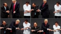 Tổng thống Donald Trump chụp ảnh chung với lãnh đạo các nước Đông Nam Á, trong đó có Thủ tướng Nguyễn Xuân Phúc, hồi cuối năm 2017.