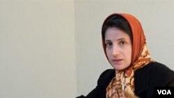Pengacara hak azasi manusia, Nasrin Sotoudeh.