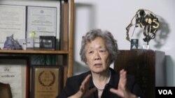 丁子霖女士接受美国之音卫视采访