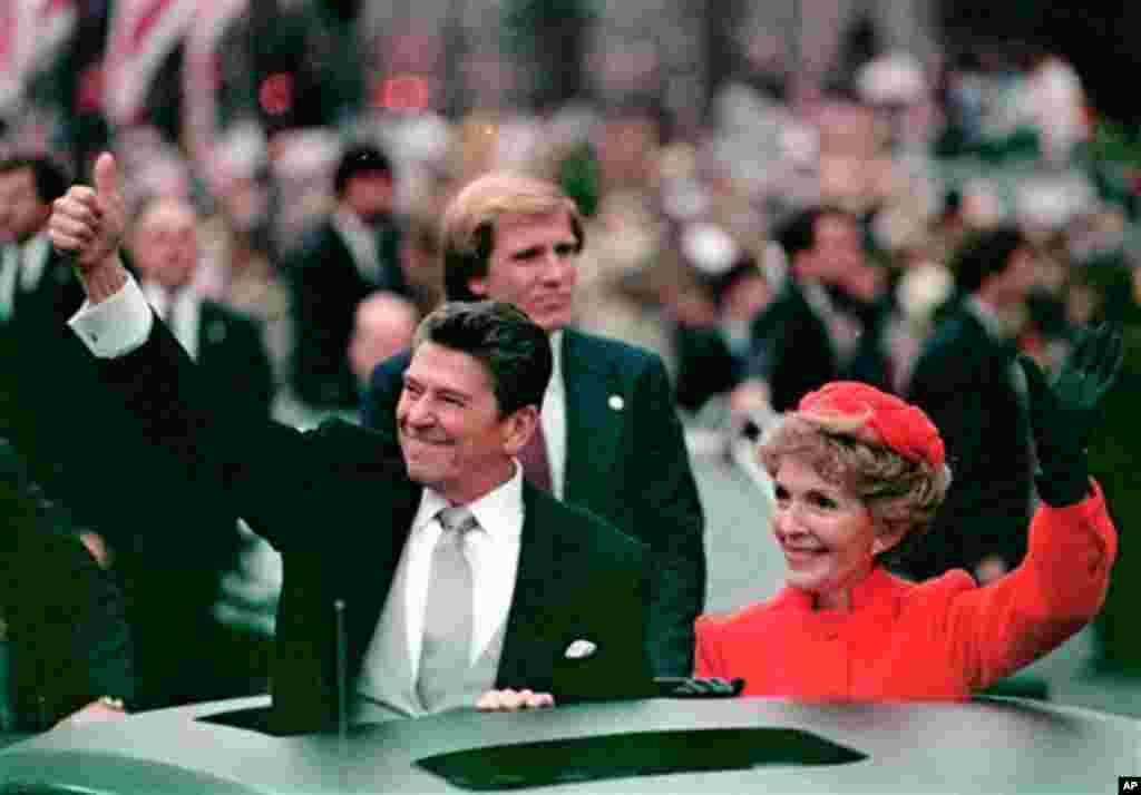 သမၼတ Ronald Reagan ႏွင့္ Nancy Regan