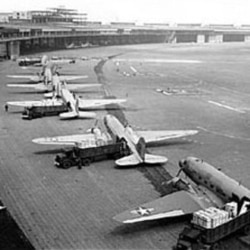 C-47s unloading at Tempelhof Airport in Berlin
