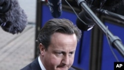 Britain's Prime Minister David Cameron, October 23, 2011.