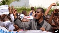 馬里民眾抗議政局不穩。