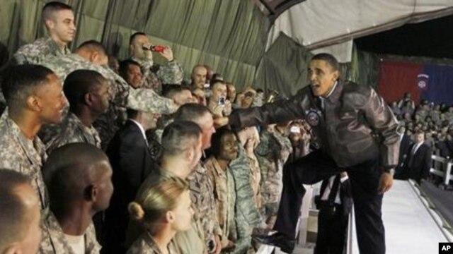 President Barack Obama visit US troops in Afghanistan earlier this year