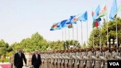 Pezident İlham Əliyev və Aİ prezidenti Herman Van Rompey