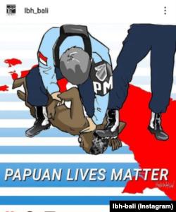Gambar yang diunggah di Instagram LBH Bali yang mengundang polemik. (Foto: IG/lbh_bali)