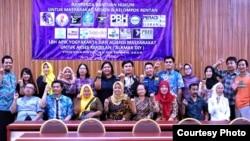 Mereka yang terlibat dalam Aliansi Masyarakat untuk Akses Keadilan DI Yogyakarta.(Foto: alamak)