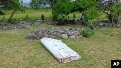 인도양 섬에서 발견된 비행기 잔해 (자료사진)