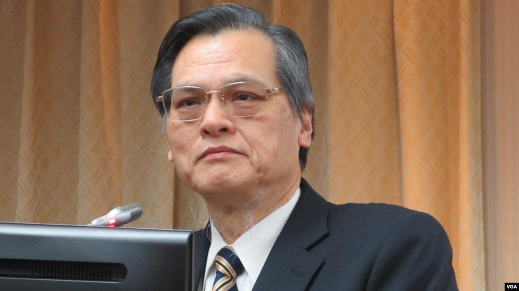 台湾陆委会主委陈明通3月27号在立法院内政委员会接受质询。(美国之音张永泰拍摄 )