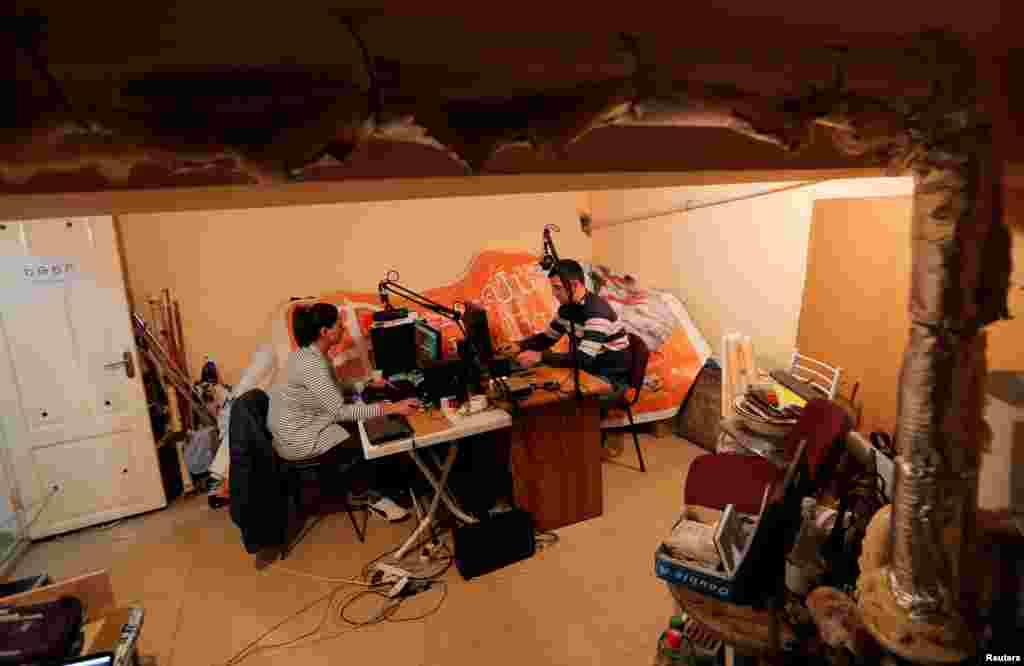 Stepanakert shahridagi radio studiya. Tog'li Qo'rabog'.
