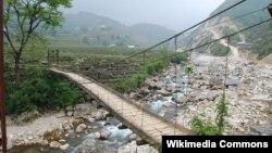Ảnh minh họa: Một chiếc cầu ở Lai Châu