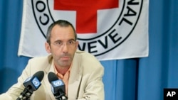 FILE - International Committee of the Red Cross, ICRC, Director of Operations Dominik Stillhart, during a press conference at the European headquarters of the United Nations in Geneva, Switzerland, April 8, 2008.
