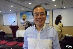 香港公民黨黨魁梁家傑。(美國之音湯惠芸)