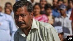 Pejabat New Delhi dari partai Aam Aadmi, Arvind Kejriwal mundur Februari 2014 lalu (foto: dok).